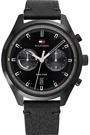 Tommy Hilfiger Męski analogowy zegarek kwarcowy ze skórzanym paskiem 1791731