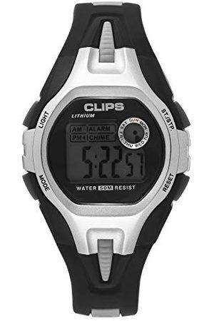CLIPS Klipsy męski zegarek cyfrowy z kauczukową bransoletką