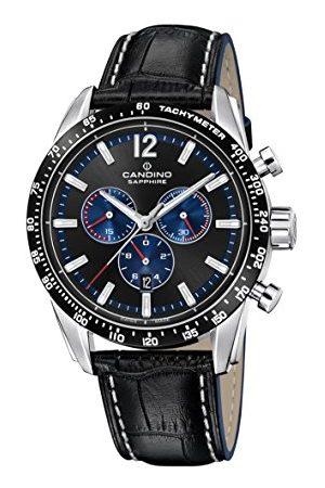 Candino Męski zegarek kwarcowy z chronografem ze skórzanym paskiem C4681/3