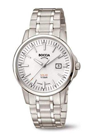 Boccia Męski analogowy zegarek kwarcowy z tytanową bransoletką 3643-03