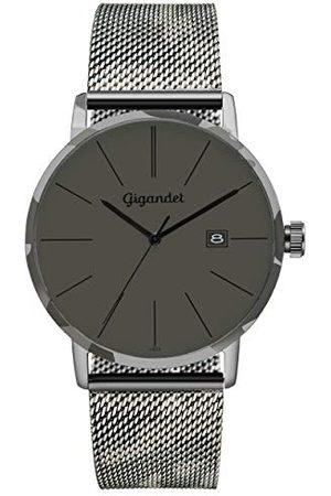 Gigandet Męski analogowy zegarek kwarcowy z bransoletką ze stali szlachetnej G42-016
