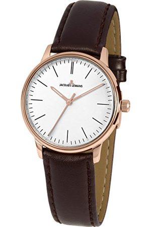 Jacques Lemans Męski analogowy zegarek kwarcowy ze skórzanym paskiem N-217D