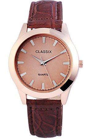 CLASSIX Męski analogowy zegarek kwarcowy ze skórzanym paskiem RP4783750011