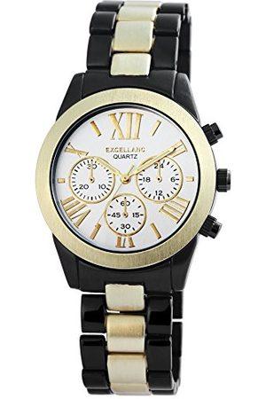 Excellanc Męski analogowy zegarek kwarcowy z różnymi materiałami bransoletka 28091250006