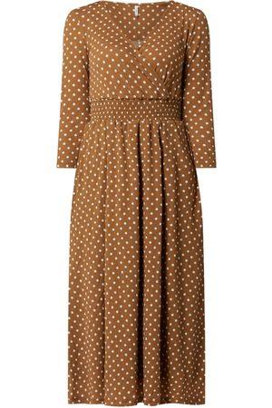 ONLY Kobieta Sukienki dzienne - Sukienka z krepy ze wzorem w groszki model 'Pella'