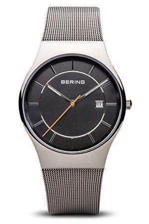 Bering Męski analogowy zegarek kwarcowy z bransoletką ze stali szlachetnej 11938-007