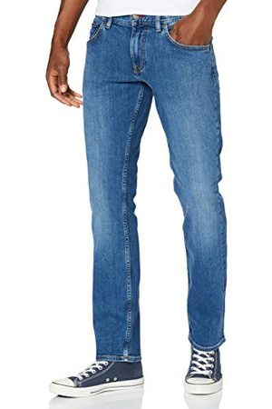 Tommy Hilfiger Męskie proste Denton Str Alvin niebieskie luźne dżinsy