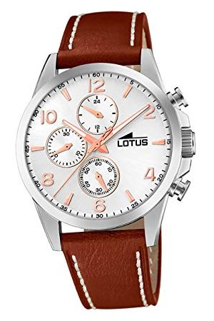 Lotus Męski chronograf kwarcowy zegarek ze skórzanym paskiem 18630/1