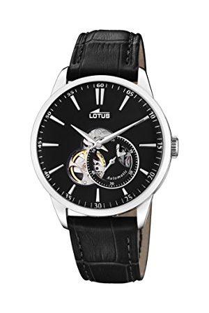 Lotus Męski analogowy zegarek automatyczny z prawdziwej skóry 18536/4