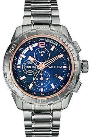 Nautica Męski chronograf kwarcowy zegarek z bransoletką ze stali szlachetnej NAI24500G