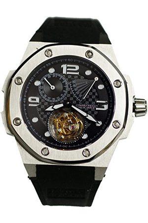 Nautec No Limit Męski zegarek na rękę Tourbillon Carboid analogowy ręczny kauczuk TB CBD-PRD/RBST-BK