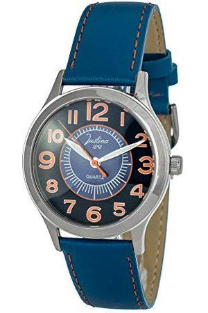 Justina Unisex zegarek na rękę analogowy kwarcowy skóra 11876A