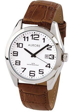 AURORE Męski analogowy zegarek kwarcowy z bransoletką ze stali szlachetnej AH0050