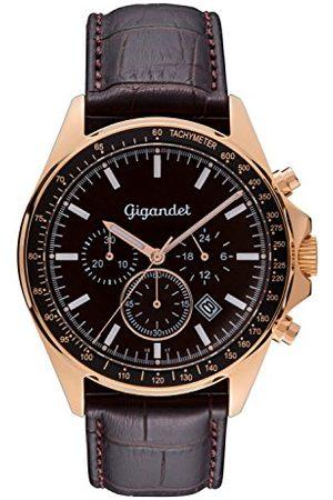 Gigandet Zegarek męski chronograf mechanizm kwarcowy analogowy ze skórzanym paskiem Volante G3-004