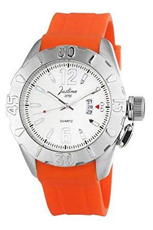 Justina Męski zegarek na rękę analogowy kwarcowy kauczuk 11878NA