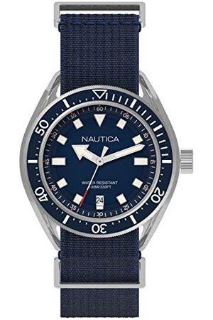 Nautica Męski analogowy zegarek kwarcowy z nylonową bransoletką NAPPRF001