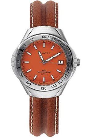 Shaon Męski analogowy zegarek kwarcowy ze skórzanym paskiem 35-6010-66