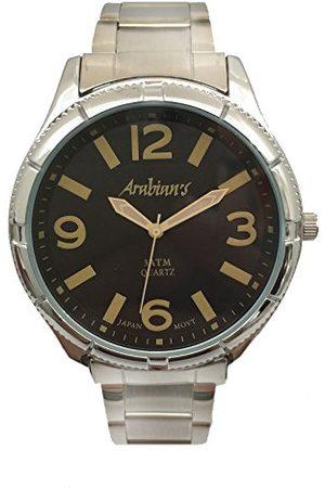 ARABIANS Męski analogowy zegarek kwarcowy z bransoletką ze stali szlachetnej HAP2199N
