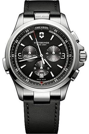 Victorinox Męski zegarek kwarcowy Chronograf ze skórzanym paskiem 241785