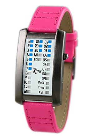 XTRESS Męski binarny zegarek kwarcowy ze skórzanym paskiem XDA1030F