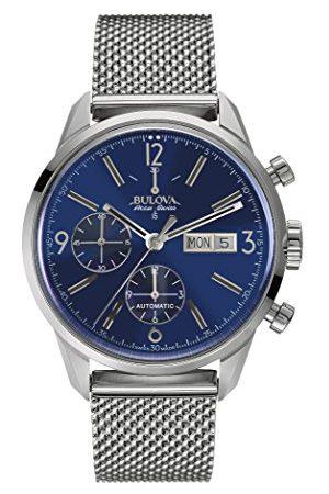 BULOVA Męski zegarek na rękę chronograf automatyczny stal szlachetna granatowy