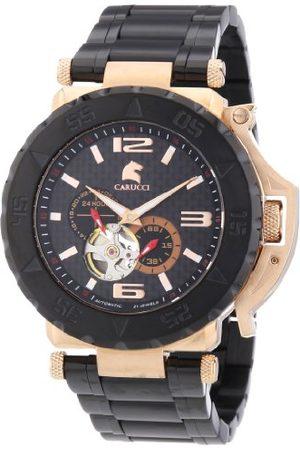 Carucci Watches męski zegarek na rękę XL Teramo analogowy automatyczny stal szlachetna powlekana CA2199BK-RG