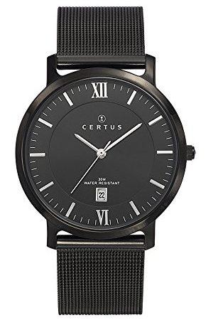 Certus Męski analogowy zegarek kwarcowy z bransoletką ze stali szlachetnej 616427