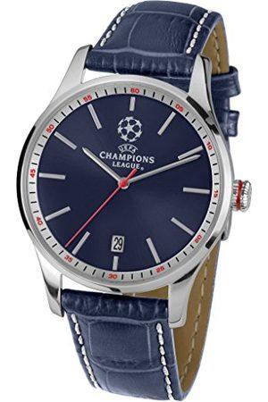 Jacques Lemans Męski zegarek na rękę UEFA CL analogowy kwarcowy skóra U-57A