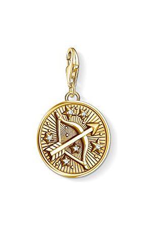 Thomas Sabo Charm Club 1660-414-39 damski męski wisiorek charm, znak zodiaku, srebro wysokiej próby 925, pozłacane, 1660-414-39