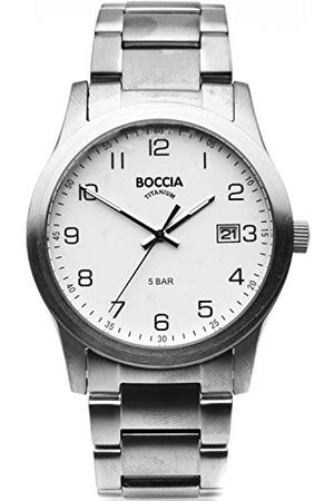 Boccia 3619-01 męski analogowy zegarek kwarcowy z bransoletką tytanową