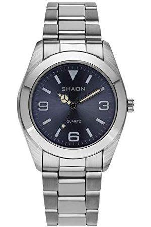 Shaon Męski analogowy kwarcowy zegarek z bransoletką ze stali szlachetnej 22-7121-98