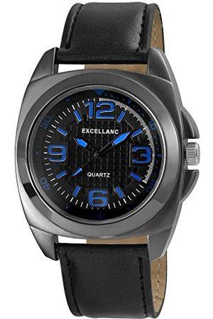 Excellanc Męski zegarek na rękę XL analogowy kwarcowy skóra 29317100008