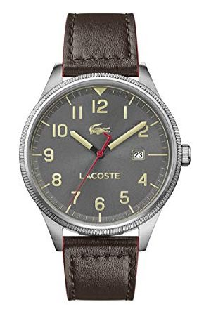 Lacoste Męski analogowy klasyczny zegarek kwarcowy ze skórzanym paskiem 2011020