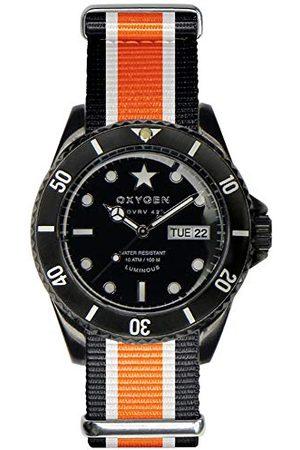 Oxygen Unisex Zegarek na rękę Black Cat analogowy kwarcowy nylon EX-DV-CAT-42-NN-BLIVOR