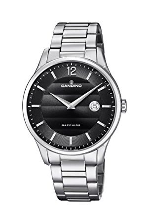 Candino Męski analogowy klasyczny zegarek kwarcowy z paskiem ze stali nierdzewnej C4637/4