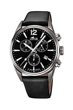 Lotus Męski chronograf kwarcowy zegarek ze skórzanym paskiem 18683/3