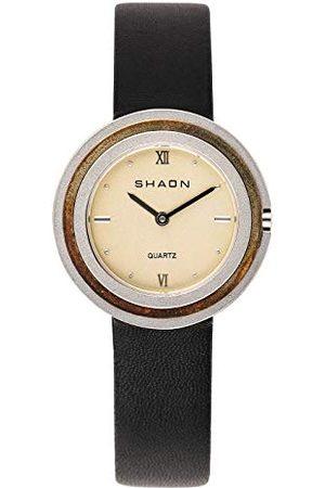 Shaon Męski analogowy zegarek kwarcowy ze skórzanym paskiem 36-6014-24