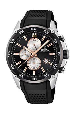 Festina The Originals Collection' męski zegarek kwarcowy z czarną tarczą chronografem i czarnym gumowym paskiem F20330/6