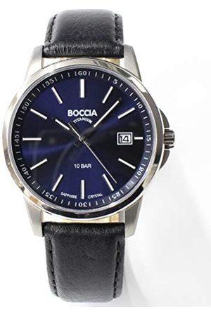 Boccia Męski analogowy zegarek kwarcowy ze skórzanym paskiem 3633-01