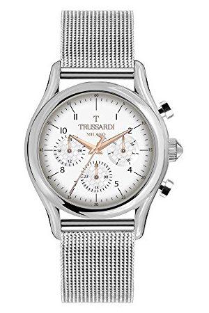 Trussardi Męski Multi tarcza kwarcowy zegarek z bransoletką ze stali szlachetnej R2453127006