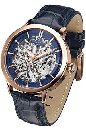 CARL VON ZEYTEN Męski analogowy automatyczny zegarek ze skórzanym paskiem CVZ0013RBL