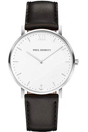 Paul Hewitt Unisex Adult Kwarcowy Smart Watch Zegarek na rękę ze skórzanym paskiem PH-SA-S-St-W-2S
