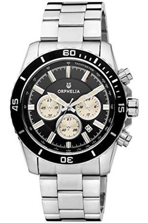 ORPHELIA Ogień i lód męski zegarek kwarcowy z wielokolorowym wyświetlaczem analogowym i bransoletą ze stali nierdzewnej 82600 Bransoletka Multicolour/Silver