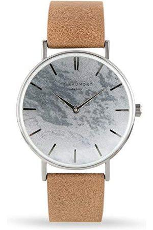 Elie Beaumont Męski analogowy japoński zegarek kwarcowy z paskiem ze sztucznej skóry MB1805.1