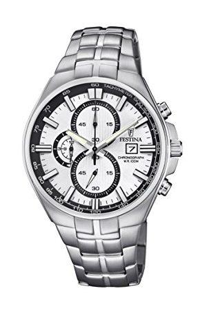 Festina Unisex zegarek kwarcowy dla dorosłych, chronograf z bransoletką ze stali szlachetnej F6862/1