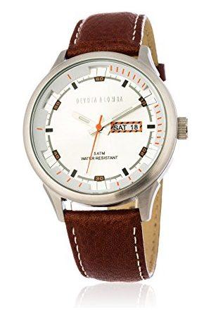 Devota&Lomba Zegarek na rękę analogowy DL010M-01BRWHITE