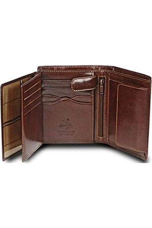 Visconti Luksusowa skóra brązowa 8 kart wielofunkcyjny portfel MZ-3