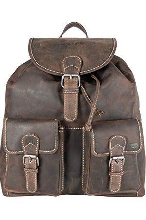 ARRIGO BELLO Plecak dla dorosłych, uniseks, (Donkerbruin), 37 x 39 x 12 cm