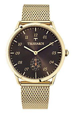 Trussardi Męski analogowy zegarek kwarcowy z bransoletką ze stali szlachetnej R2453116001