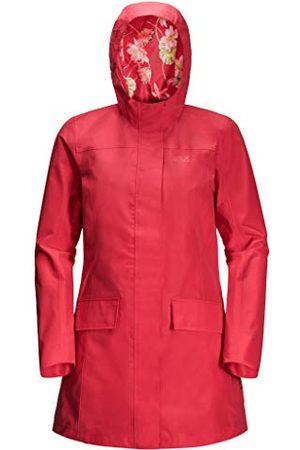 Jack Wolfskin Damski płaszcz Cape York Paradise płaszcz, Tulip Red, XXL